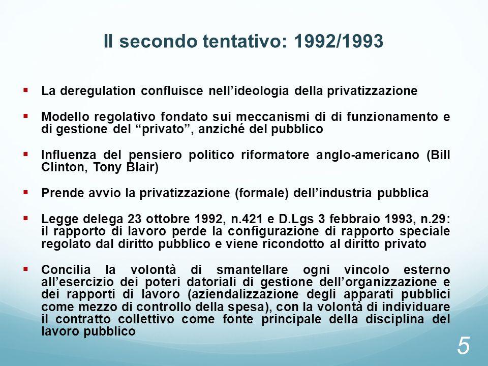 Il secondo tentativo: 1992/1993
