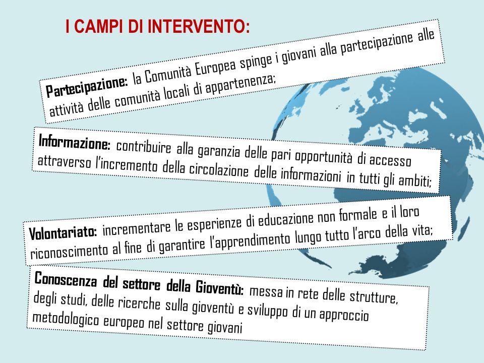 I CAMPI DI INTERVENTO: