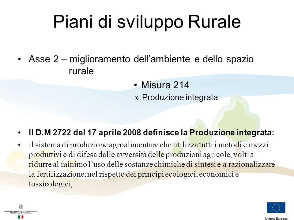 Piani di sviluppo Rurale