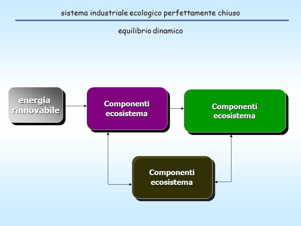 sistema industriale ecologico perfettamente chiuso equilibrio dinamico