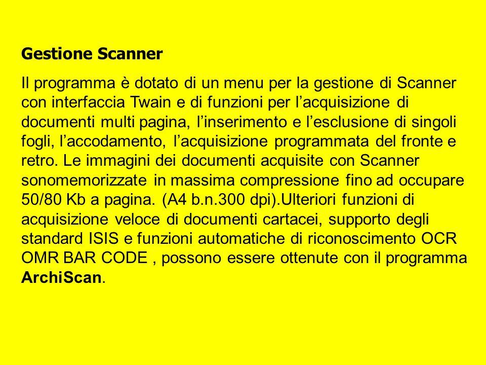 Gestione Scanner