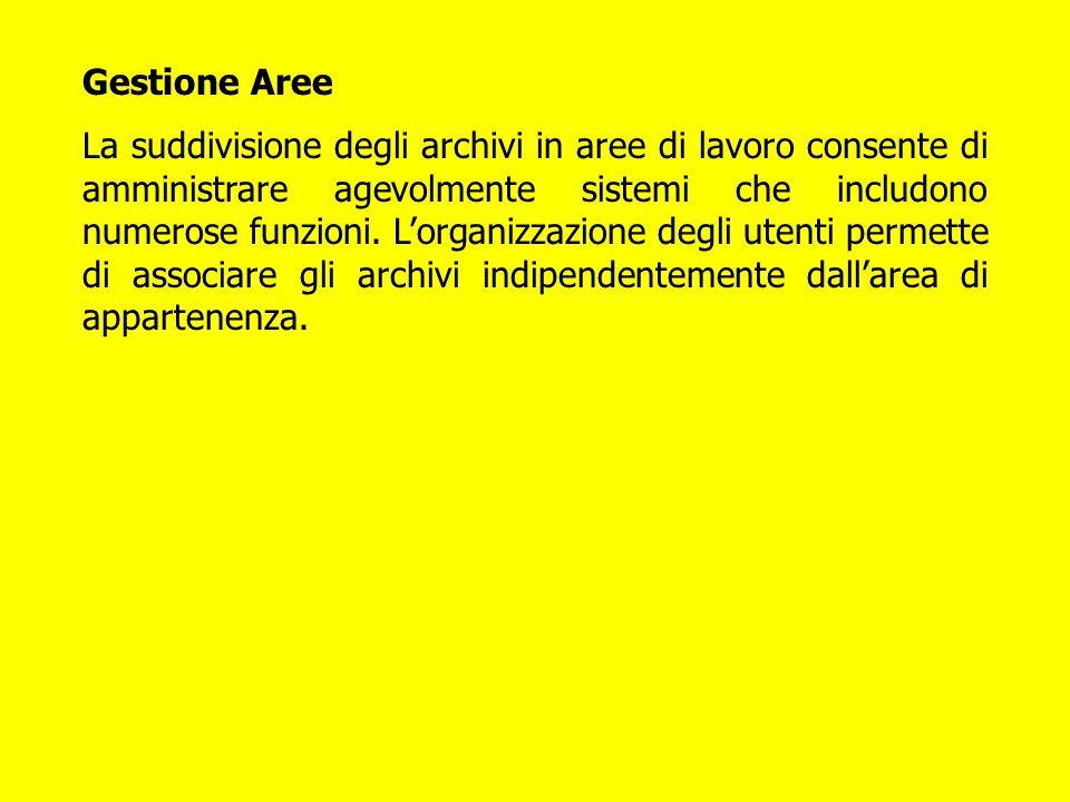 Gestione Aree