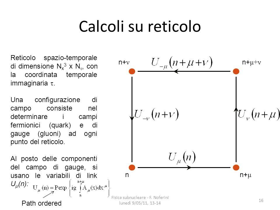 Fisica subnucleare - F. Noferini lunedì 9/05/11, 13-14