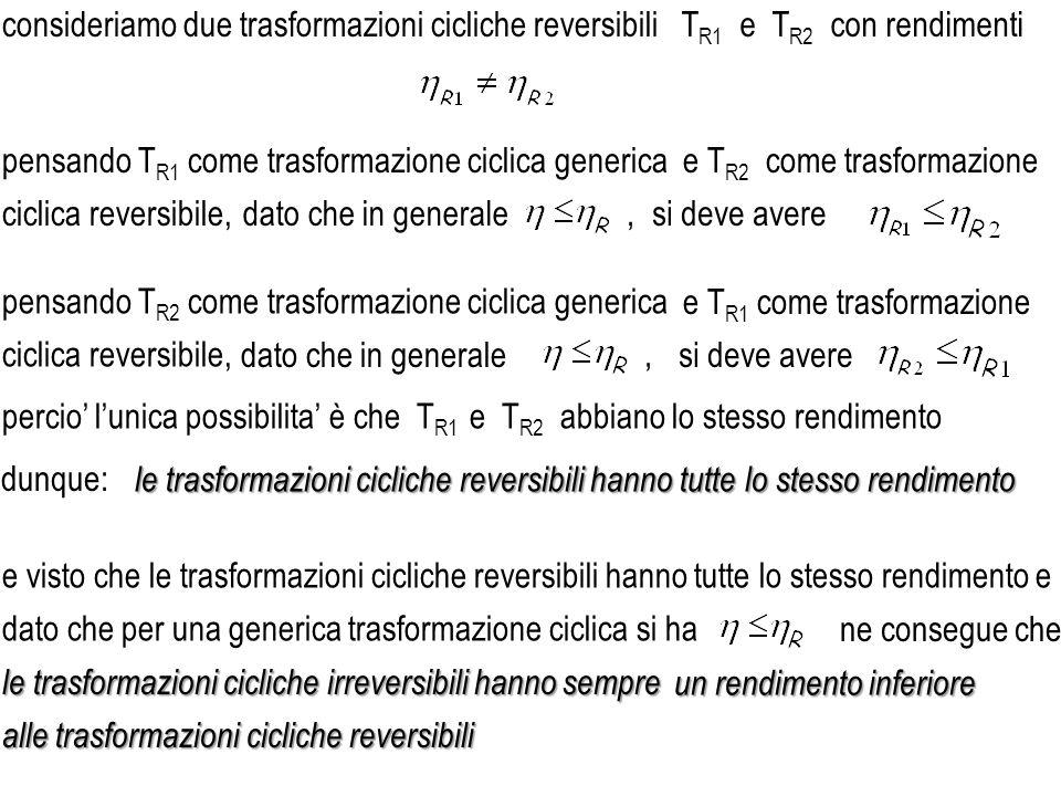 consideriamo due trasformazioni cicliche reversibili