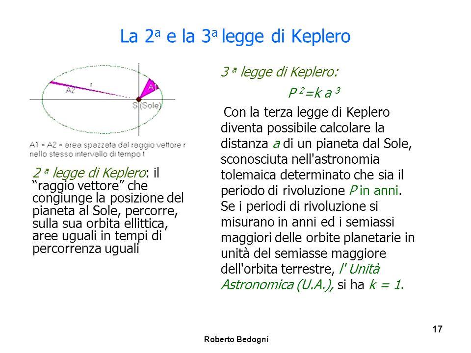La 2a e la 3a legge di Keplero