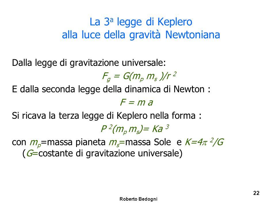 La 3a legge di Keplero alla luce della gravità Newtoniana
