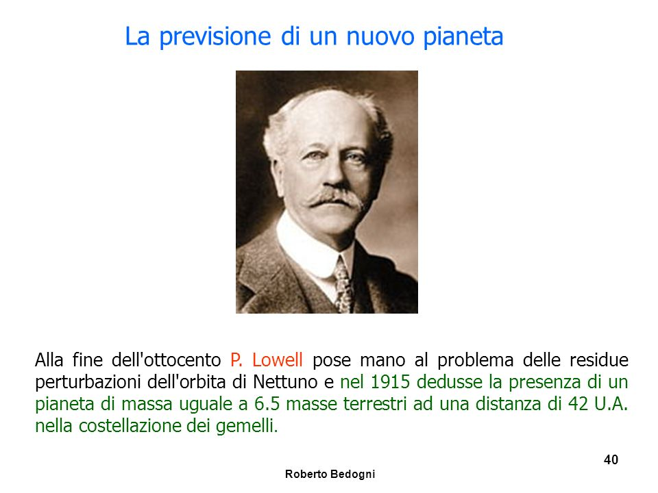 La previsione di un nuovo pianeta