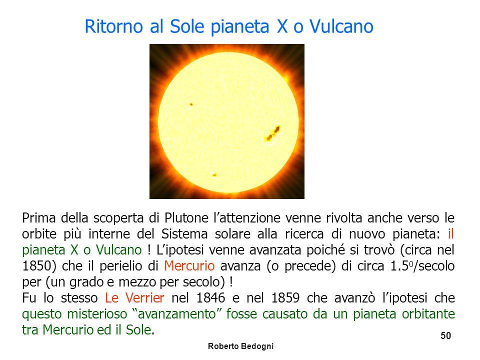 Ritorno al Sole pianeta X o Vulcano