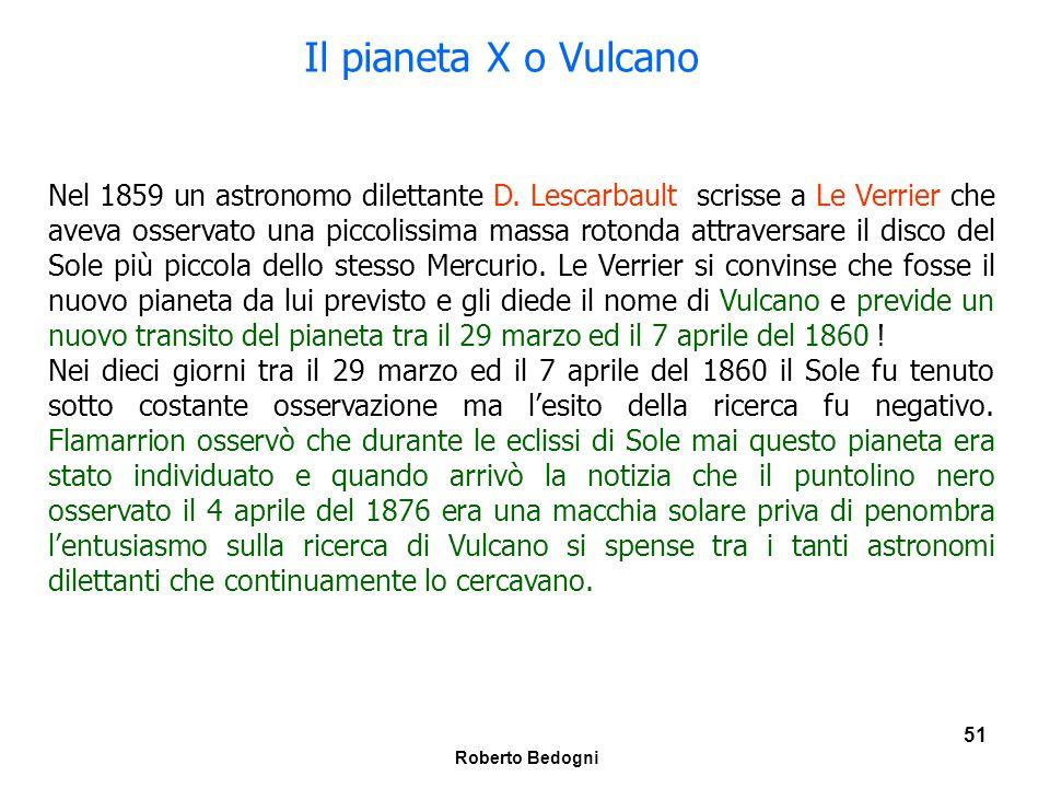 Il pianeta X o Vulcano