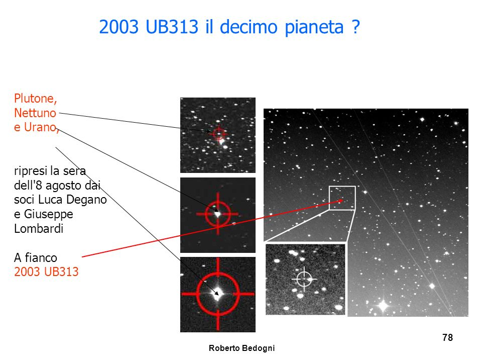 2003 UB313 il decimo pianeta Plutone, Nettuno e Urano,