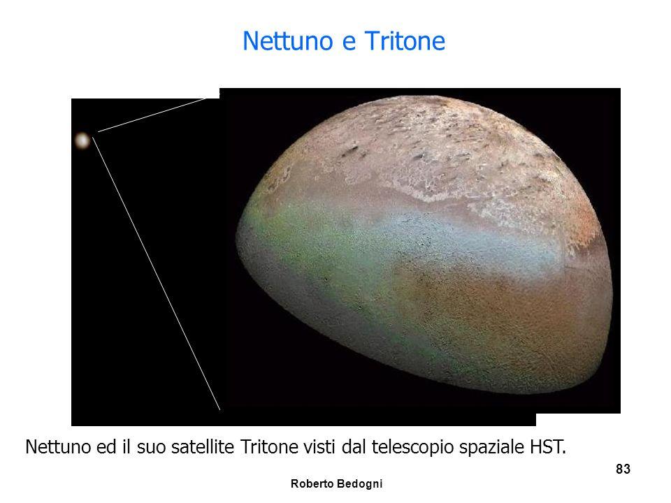 Nettuno e Tritone Nettuno ed il suo satellite Tritone visti dal telescopio spaziale HST.
