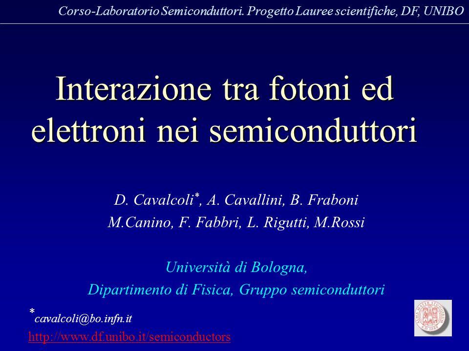 Interazione tra fotoni ed elettroni nei semiconduttori