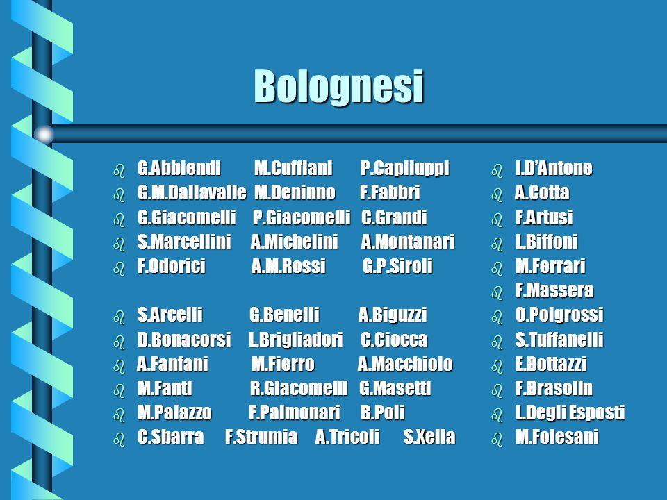Bolognesi G.Abbiendi M.Cuffiani P.Capiluppi