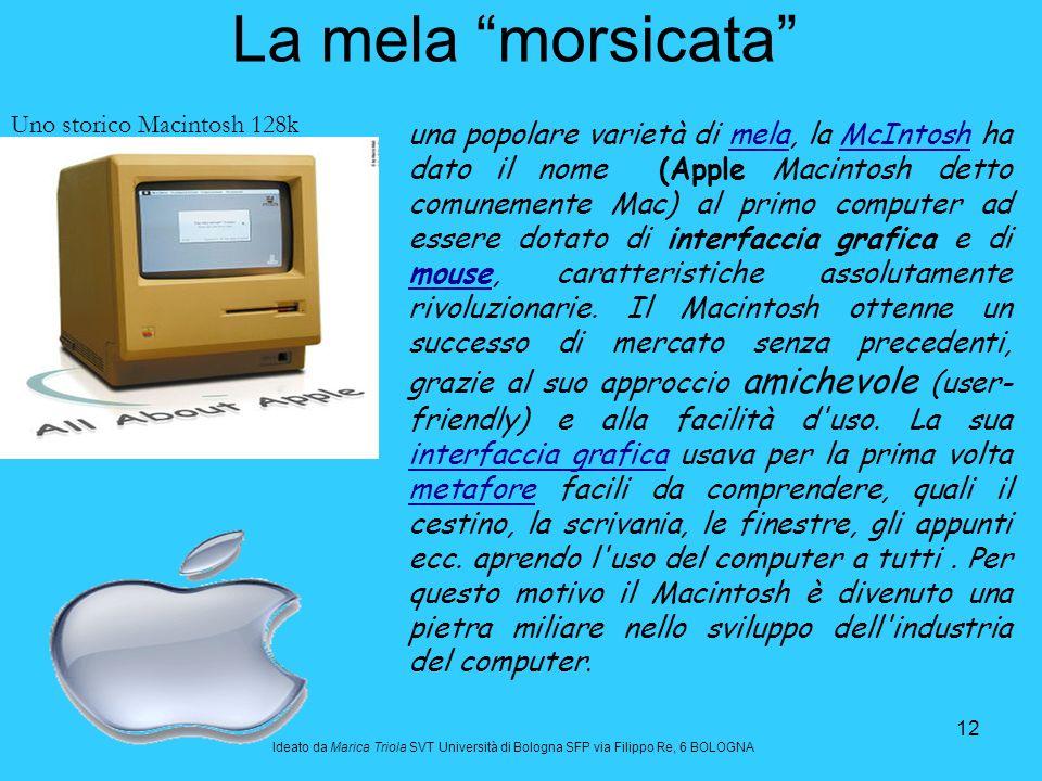 La mela morsicata Uno storico Macintosh 128k.