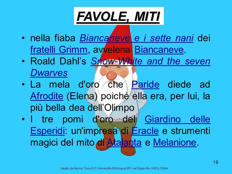 FAVOLE, MITI nella fiaba Biancaneve e i sette nani dei fratelli Grimm, avvelena Biancaneve. Roald Dahl's Snow-White and the seven Dwarves.
