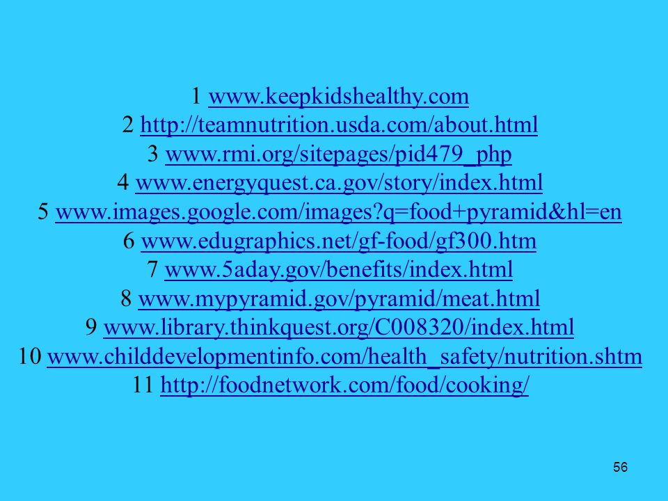 1 www.keepkidshealthy.com 2 http://teamnutrition.usda.com/about.html