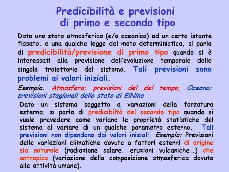 Predicibilità e previsioni