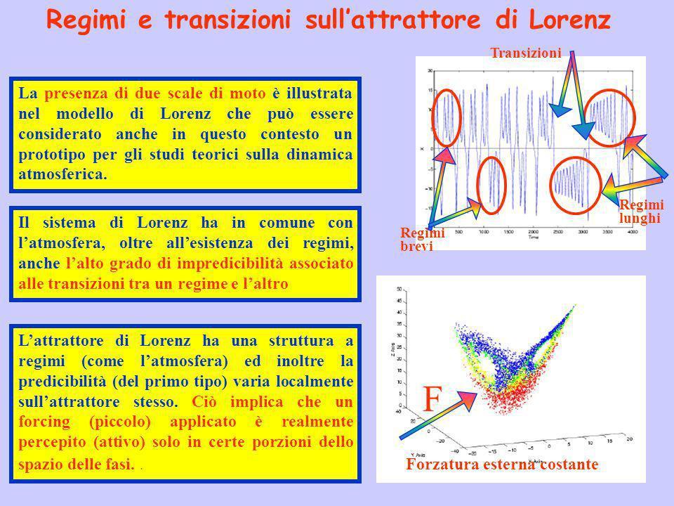 Regimi e transizioni sull'attrattore di Lorenz