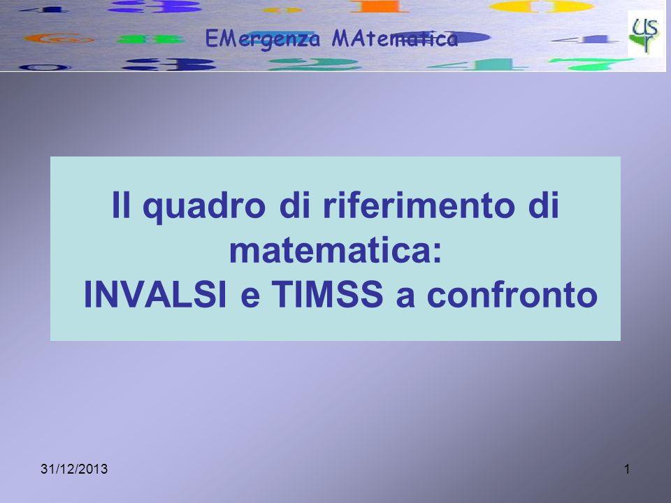 Il quadro di riferimento di matematica: INVALSI e TIMSS a confronto