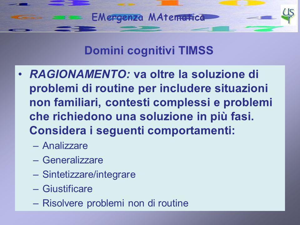 Domini cognitivi TIMSS