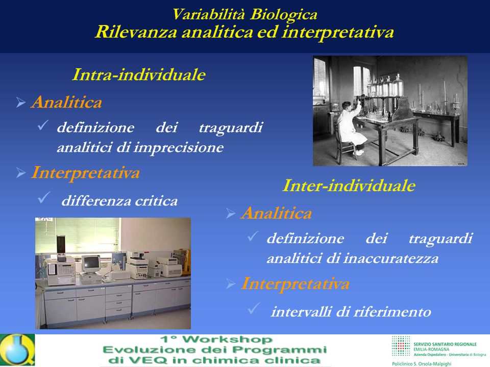 Variabilità Biologica Rilevanza analitica ed interpretativa
