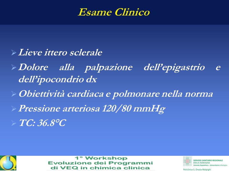 Esame Clinico Lieve ittero sclerale
