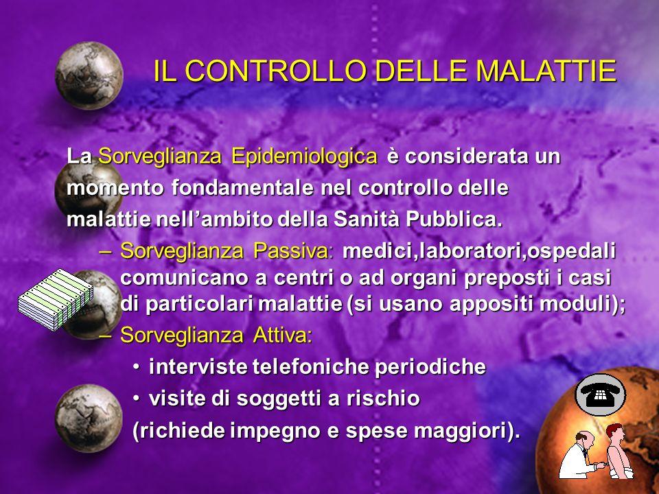 IL CONTROLLO DELLE MALATTIE