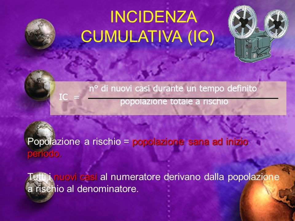 INCIDENZA CUMULATIVA (IC)