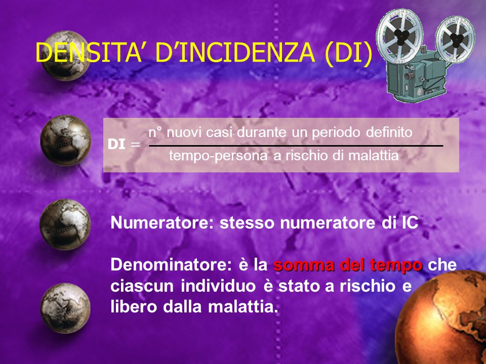 DENSITA' D'INCIDENZA (DI)