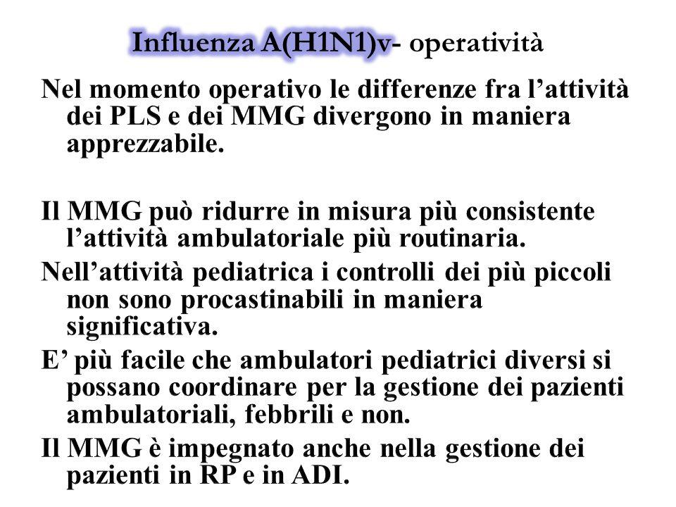 Influenza A(H1N1)v- operatività