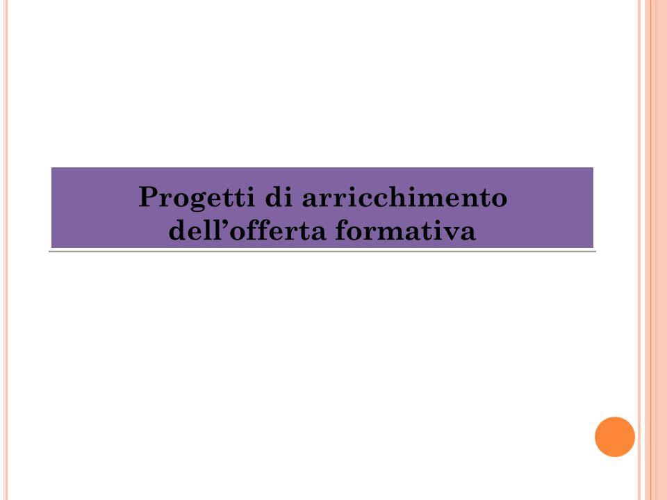 Progetti di arricchimento dell'offerta formativa
