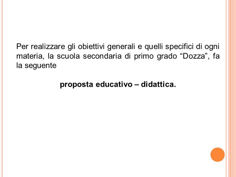 proposta educativo – didattica.