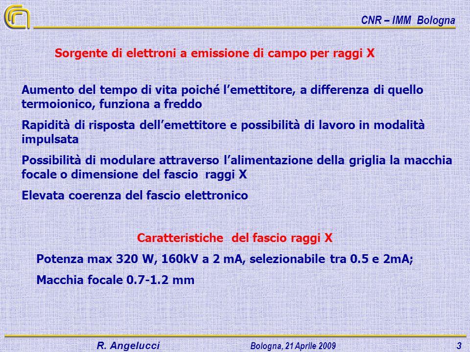 Caratteristiche del fascio raggi X