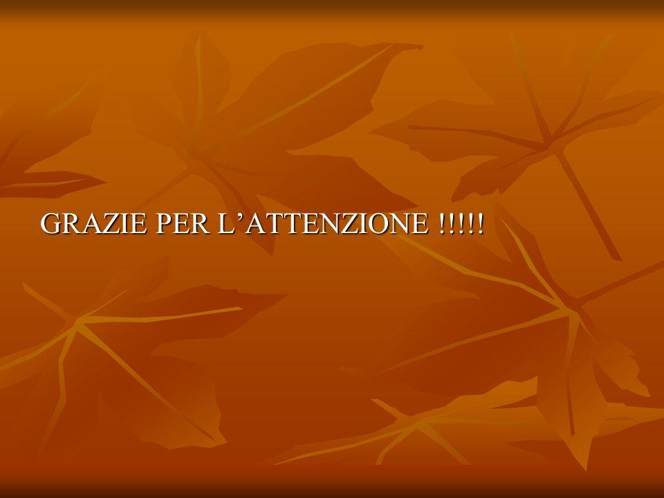 GRAZIE PER L'ATTENZIONE !!!!!