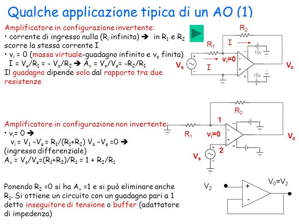 Qualche applicazione tipica di un AO (1)