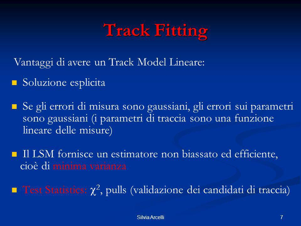 Track Fitting Vantaggi di avere un Track Model Lineare: