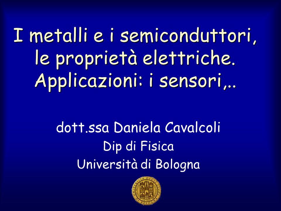 dott.ssa Daniela Cavalcoli Dip di Fisica Università di Bologna