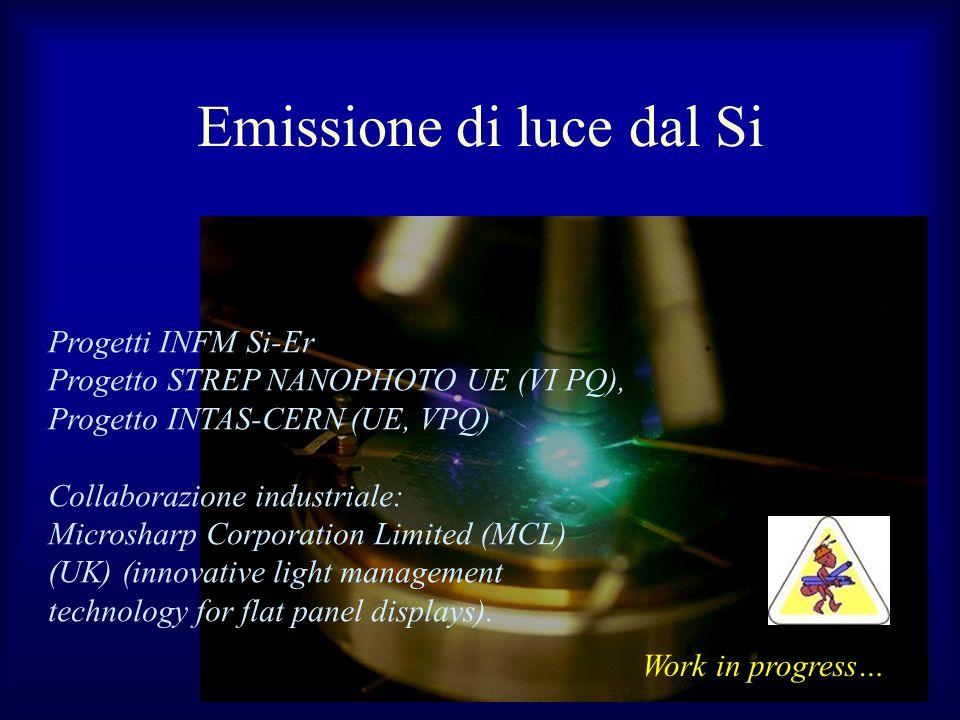 Emissione di luce dal Si