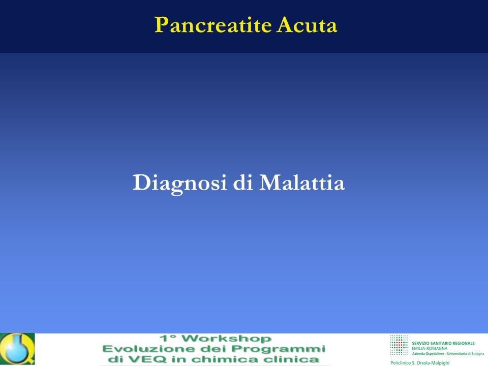 Pancreatite Acuta Diagnosi di Malattia