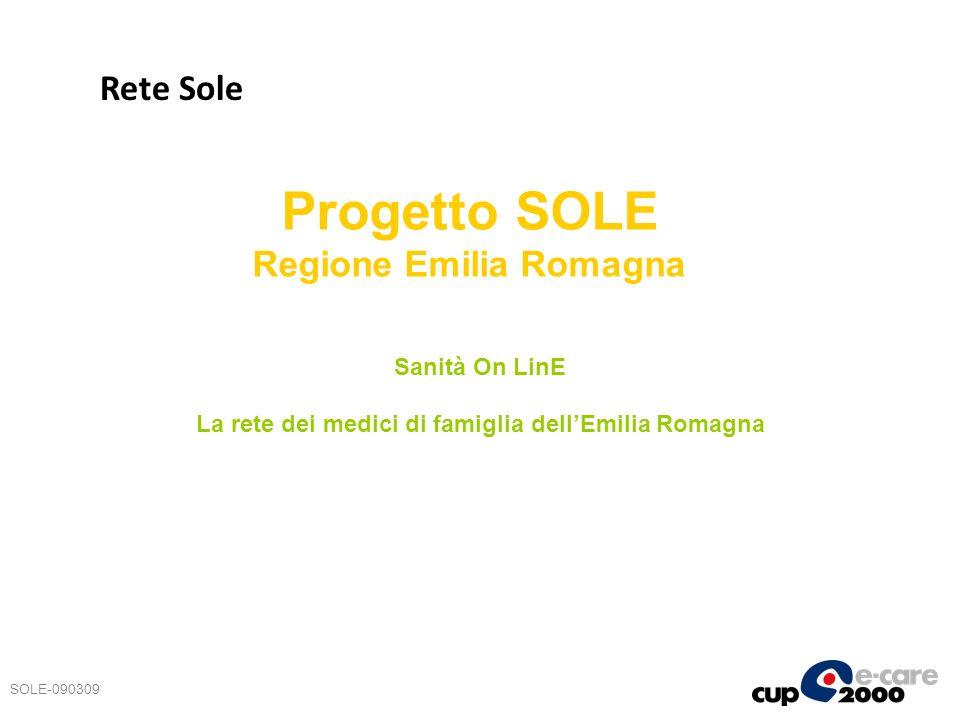 Progetto SOLE Regione Emilia Romagna