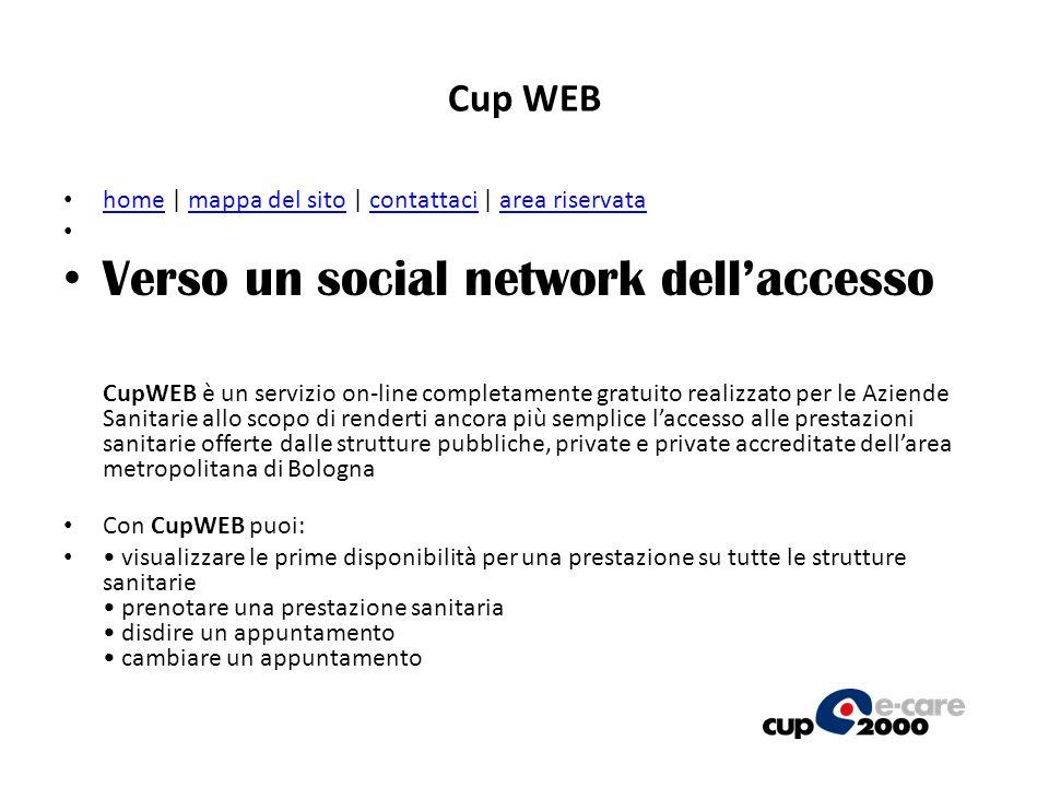 Cup WEB home | mappa del sito | contattaci | area riservata.