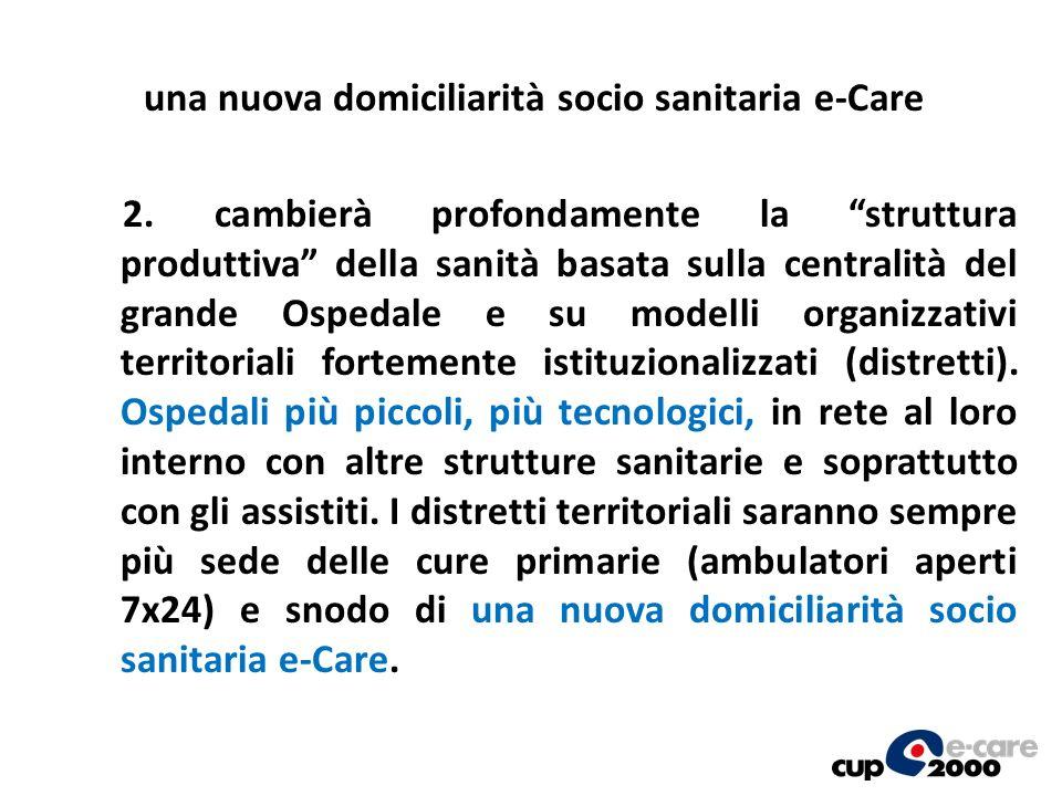 una nuova domiciliarità socio sanitaria e-Care