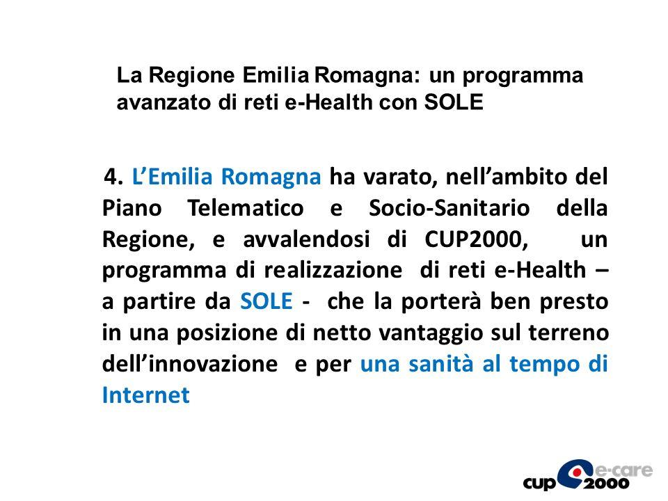 La Regione Emilia Romagna: un programma avanzato di reti e-Health con SOLE