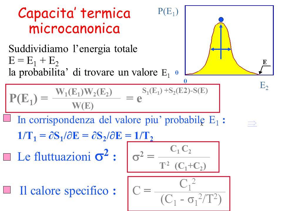 Capacita' termica microcanonica