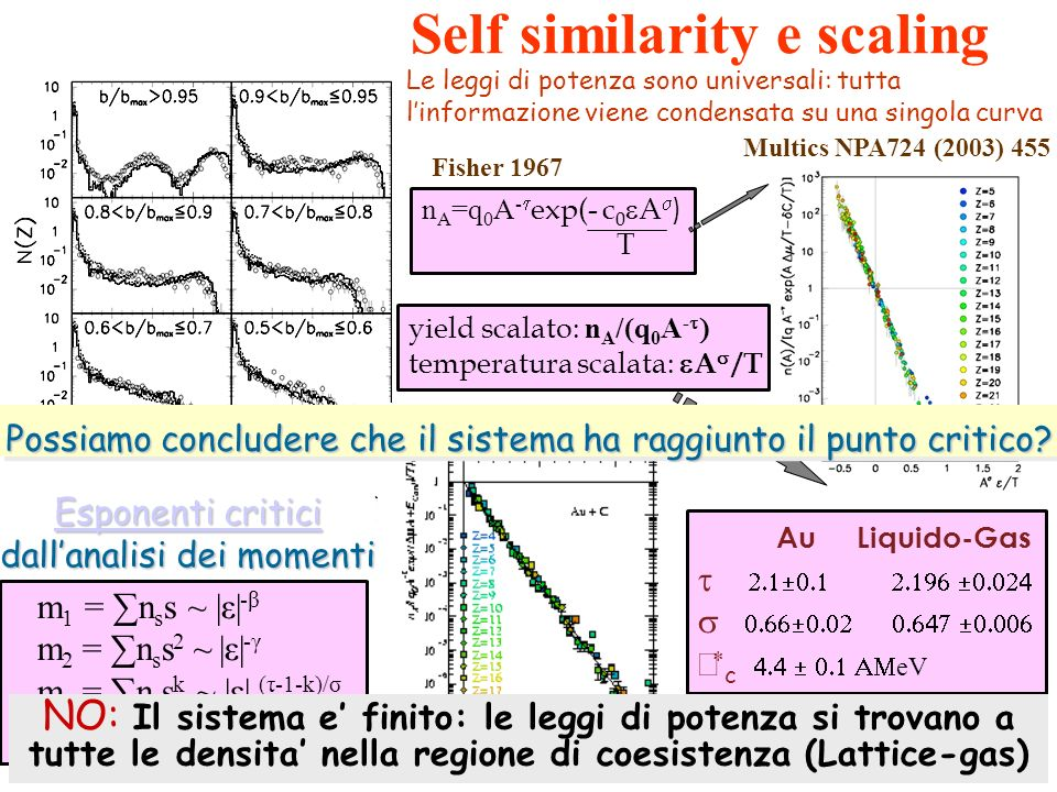 Self similarity e scaling