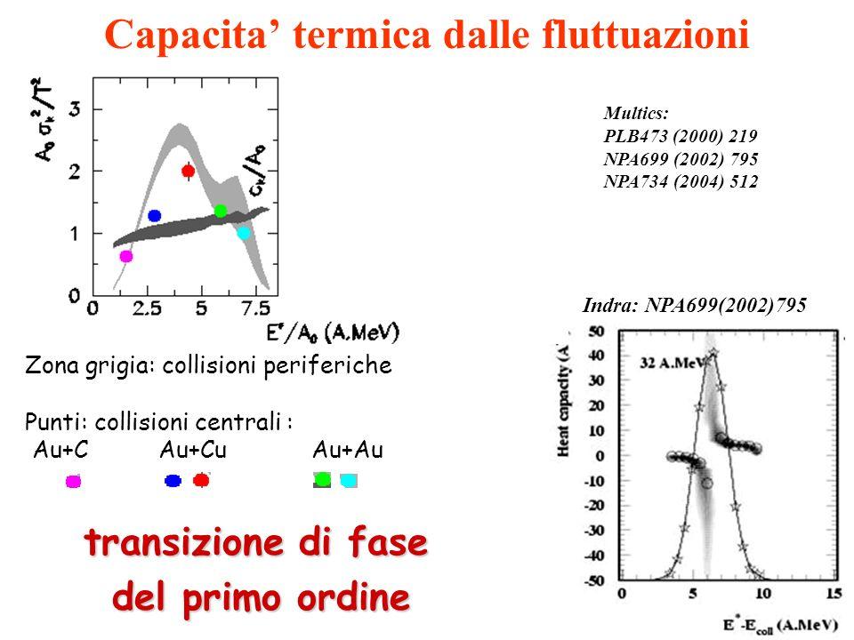 Capacita' termica dalle fluttuazioni