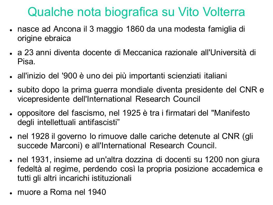 Qualche nota biografica su Vito Volterra