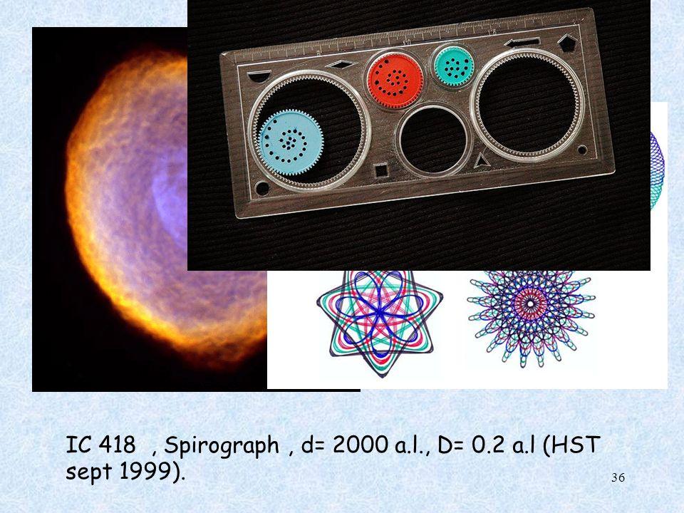 IC 418 , Spirograph , d= 2000 a.l., D= 0.2 a.l (HST sept 1999).