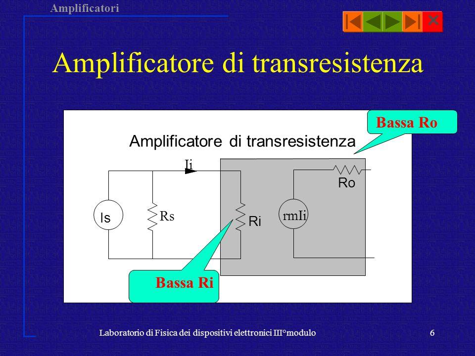 Amplificatore di transresistenza