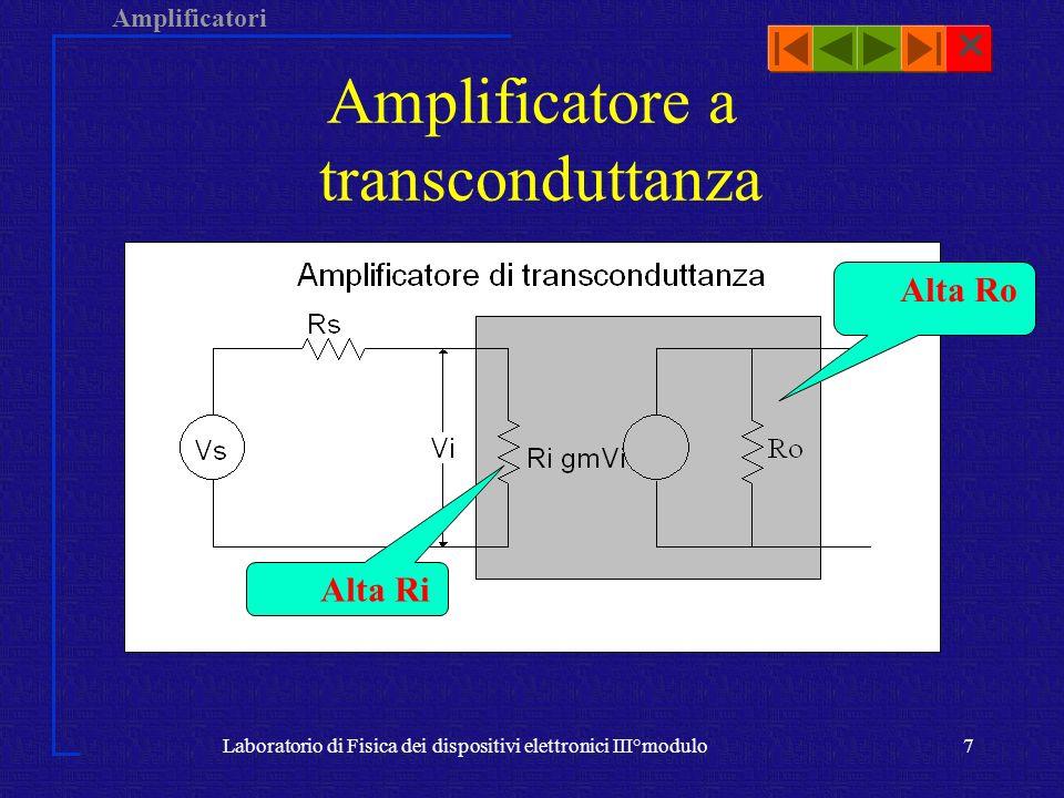 Amplificatore a transconduttanza
